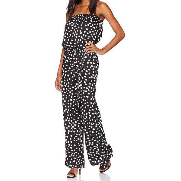 a679f7c7120 Shop MSK Black Womens Size Medium M Polka-Dot Strapless Contrast Jumpsuit -  Free Shipping On Orders Over  45 - Overstock - 21867938