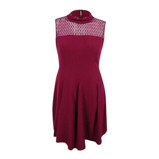 Anne Klein Women's Lace Trim A-Line Dress - manzanita