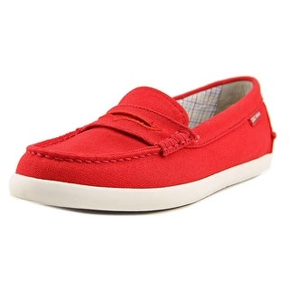 Cole Haan Pinch Weekender Women Round Toe Canvas Red Loafer
