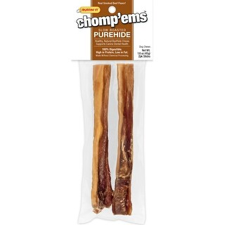 Ruffin' It Chomp'ems Purehide Sticks 2/Pkg 1.6Oz-Smoked Beef Flavor