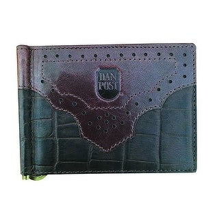 Dan Post Western Wallet Mens Croco Print Money Clip OS Brown 9306000 - One size