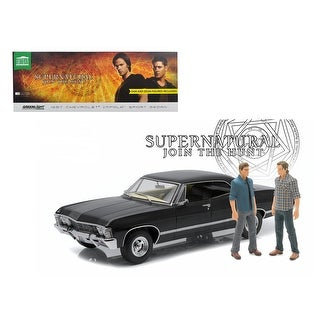1967 Chevrolet Impala Sport Sedan with Sam and Dean Figures Supernatural (TV Series 2005) 1/18 Diecast Model Car by Greenlight