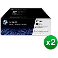 HP 85A Black Original LaserJet Toner Dual Cartridge (CE285D)(2-Pack)