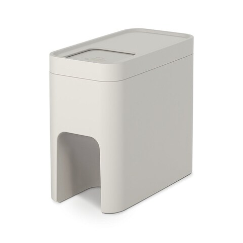 Joseph Joseph Intelligent Waste Stack Stackable Recycling Bin Container Separation System, 6-gallon, Off-White
