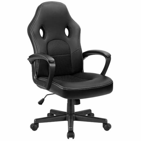 Homall Gaming Chair Leather Office Desk Chair High Back Ergonomic Adjustable Swivel Executive Computer Chair Rolling Task