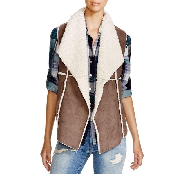 Dylan Womens Outerwear Vest Faux Fur Open Front