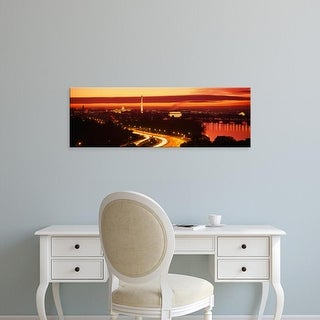 Easy Art Prints Panoramic Images's 'Sunset, Aerial, Washington DC, District Of Columbia, USA' Premium Canvas Art