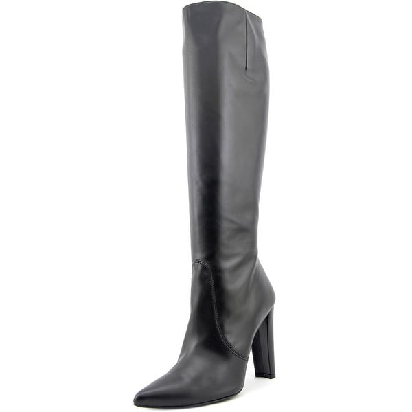 Stuart Weitzman Hyper Pointed Toe Leather Knee High Boot