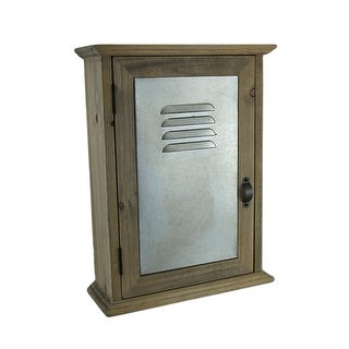 Wall Mounted Wood And Metal Locker Style Key Cabinet