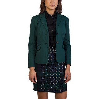 Prada Women's Cotton Nylon Blend Jacket Green - 6
