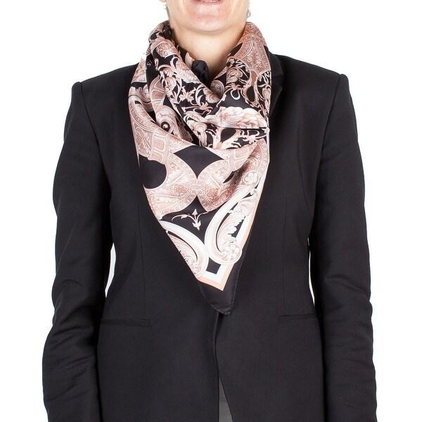 Versace Women's Medua Head Ornamental Pattern Silk Scarf