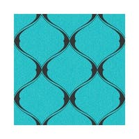 Graham and Brown 20-731 56 Square Foot - Olympus Turquoise - Non-Pasted Vinyl Wallpaper