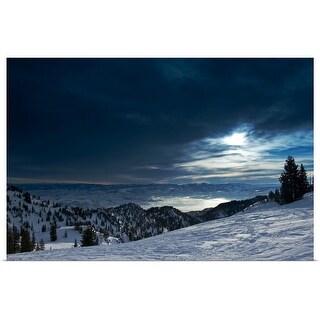 """""""Piste at Alta ski resort, Salt Lake City, Utah"""" Poster Print"""