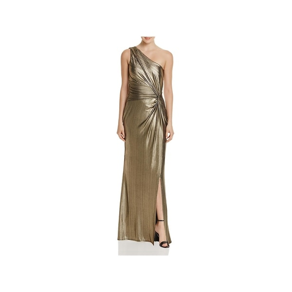 d5655739ca Laundry by Shelli Segal Womens Evening Dress One Shoulder Metallic