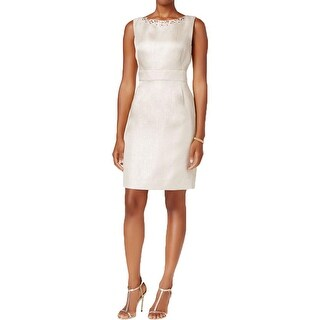 Tahari ASL Womens Party Dress Embellished Textured