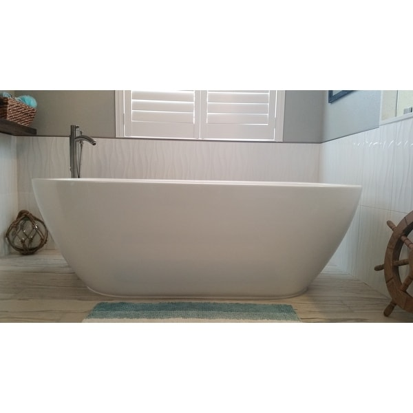 Shop Wyndham Collection Soho Freestanding Soaking Bathtub Free