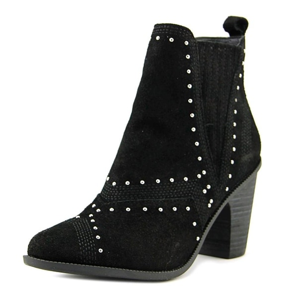 Fergie Dina Women Round Toe Suede Black Ankle Boot