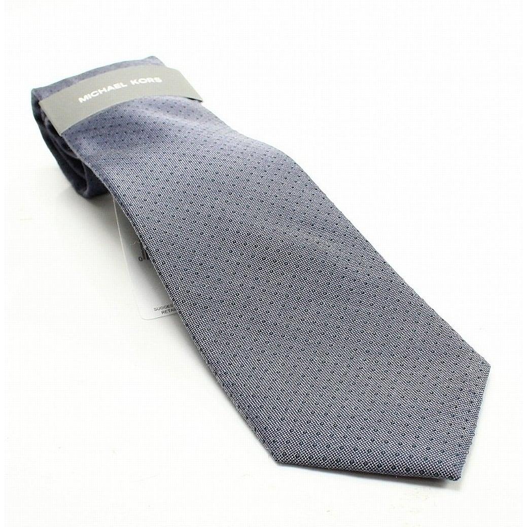 b6ac94a6f4ed Shop Michael Kors Gray Pin Dot Melange Silk Blend Men's Dress Neck Tie - On  Sale - Free Shipping On Orders Over $45 - Overstock - 27020601