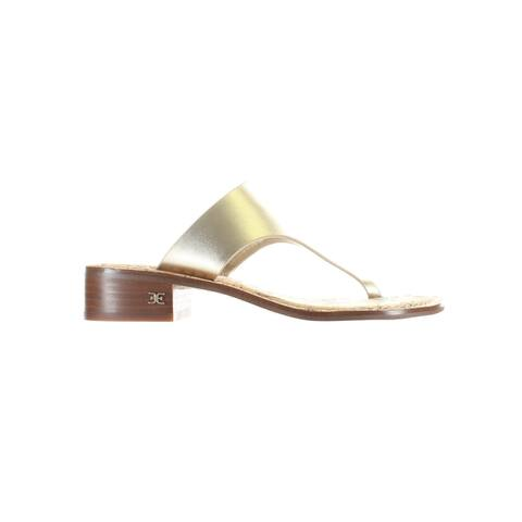 Sam Edelman Womens Jaynee Gold T-Strap Heels Size 5