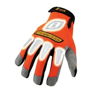 Ironclad IVO2-04-L I-Viz Synthetic Safety Glove, Large, Orange