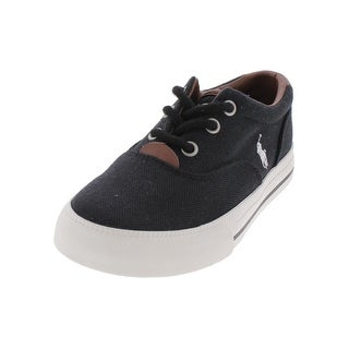 Polo Ralph Lauren Boys Vaughn II Fashion Sneakers Leather Trim Low Top