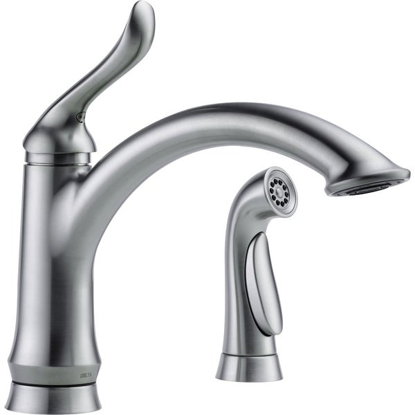 Delta 4453 Dst Linden Kitchen Faucet With Side Spray And Optional Base Plate Includes