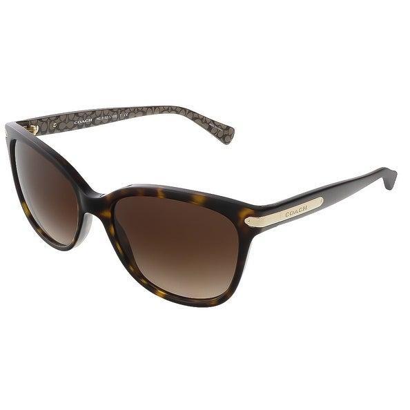 a8d9e093e44 Shop Coach HC8132 529113 Dark Tortoise Military Sig C Rectangle sunglasses  - 57-17-135 - Free Shipping Today - Overstock - 21157953