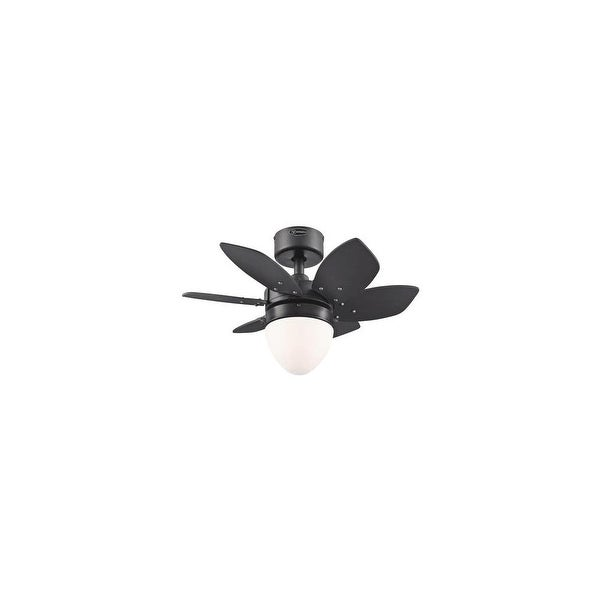 "Westinghouse 7222900 Origami 24"" 6 Blade Hanging Indoor Ceiling Fan w/ Reversible Motor, Blades, Light Kit, & Down Rod Included"