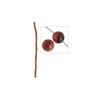 "John Bead SP 8"" Goldstone 6mm Round"