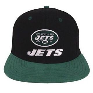 New York Jets Retro Black/Green Snapback Cap Hat