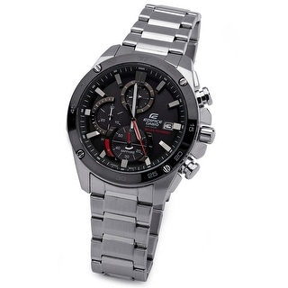 Link to Casio Men's Edifice Solar Powered Quartz Chronograph Watch (Silver) Similar Items in Men's Watches