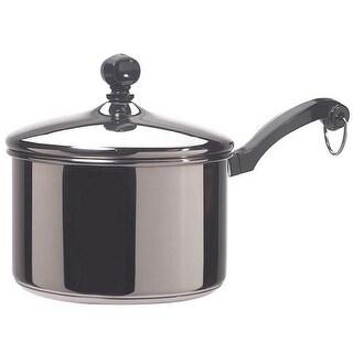 Farberware 50002 Stainless Steel Covered Saucepan, 2 Quart