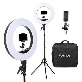 """18""""/48cm Outer 55W 5500K Dimmable LED Ring Light, Light Stand with Carrying Bag"""