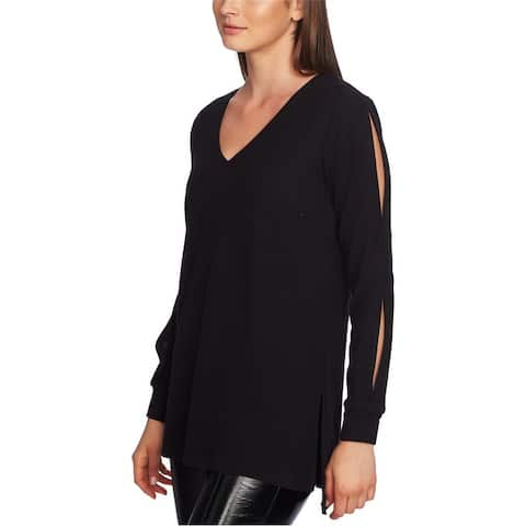 1.State Womens Slitted Sleeve Pullover Sweater