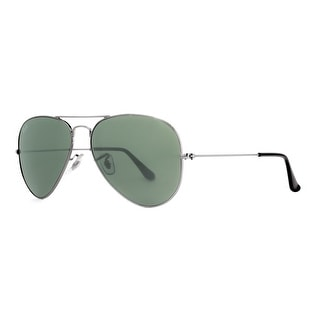 RAY-BAN Aviator RB 3025 Unisex W0879 Gunmetal Green G-15 Sunglasses - 58mm-14mm-135mm
