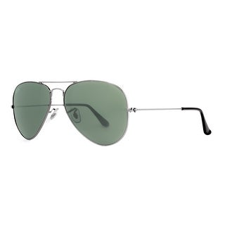 best selling ray ban aviators  ray ban aviator rb 3025 unisex w0879 gunmetal green g15 sunglasses 58mm 14mm