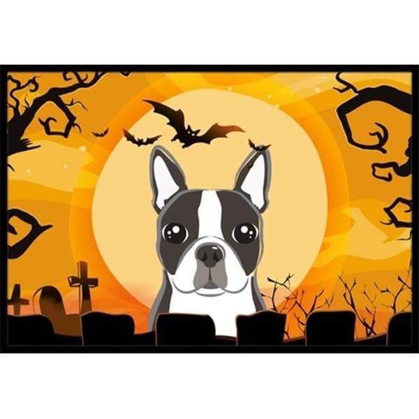 Carolines Treasures BB1761JMAT Halloween Boston Terrier Indoor & Outdoor Mat 24 x 36 in.