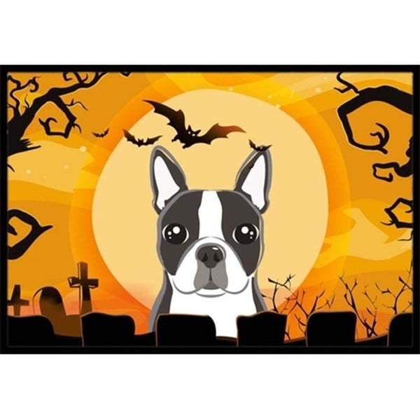 Carolines Treasures BB1761MAT Halloween Boston Terrier Indoor & Outdoor Mat 18 x 27 in.