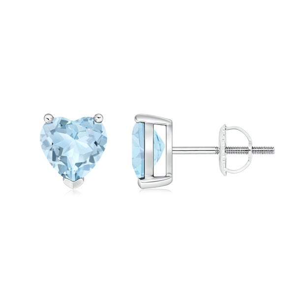Angara Aquamarine Yellow Gold Studs