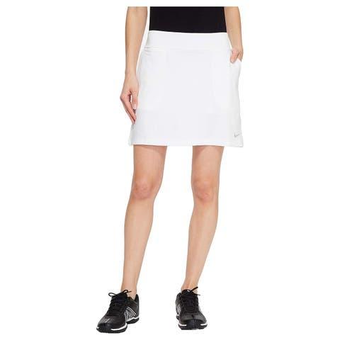 NIKE Women's Dry Golf Skort, White/Flat Silver,, White/Flat Silver, Size Small