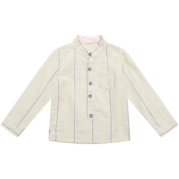 Richie House Baby Boys Grey Little Stand Collar Stylish Pullover 12M - 12 months