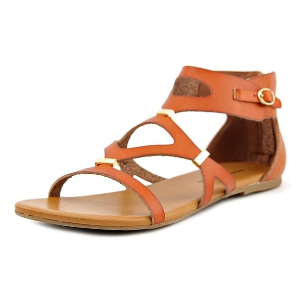 Rock & Candy Naomi Women Open Toe Synthetic Tan Gladiator Sandal