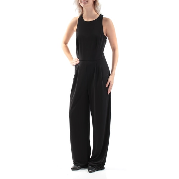 4b2bff49f70 Shop Womens Black Jewel Neck Sleeveless Jumpsuit Size 16 - Free Shipping On  Orders Over  45 - Overstock - 22431624
