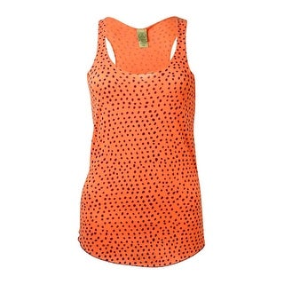 Alternative Women's Meegs Racer Polka-Dot Tank - persimmon/blue - xs