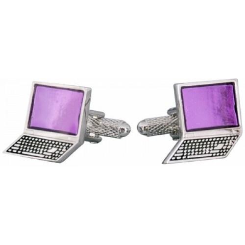 Laptop Computer It Connected Technology Guru Cufflinks