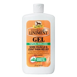 Absorbine 430504 Topical Analgesic Veterinary Liniment Horse Gel, Spearmint, 12 Oz