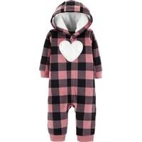 44e6c086a Shop London Fog Girls 0-9 Months Heart Fur Pram Snowsuit - Pink ...