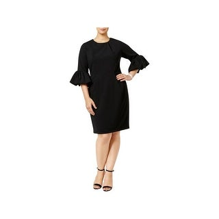 Betsy & Adam Womens Wear to Work Dress Latern Sleeve Knee Length