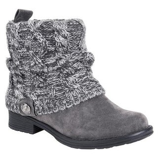 MUK LUKS Women's Patrice Ankle Boot Grey Polyester