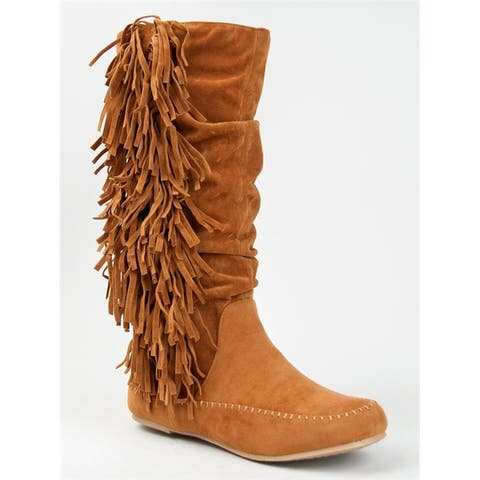 Bamboo Women Friends-14 Boots - Blksw